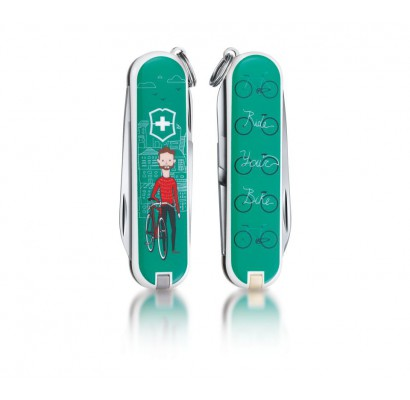 Складной нож Victorinox Classic Ride your Bike 0.6223.L1508