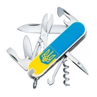 Складной нож Victorinox CLIMBER UKRAINE 1.3703.7R3